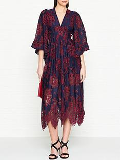 ukulele-lace-kimono-sleeve-dress-navyred