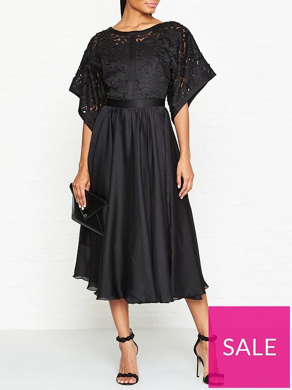 bbf91215052b Ukulele Kimono Sleeve Midi Dress - Black | very.co.uk