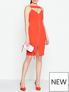outline-tooley-structured-contrast-strap-dress-red