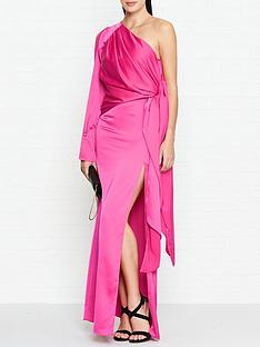 outline-adelina-one-shoulder-maxi-dress-pink