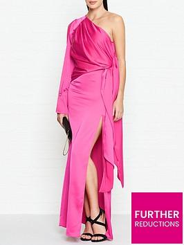 outline-adelina-one-shoulder-maxi-dress-pink