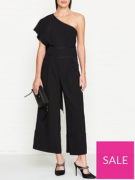 outline-one-shoulder-draped-panel-jumpsuit-black
