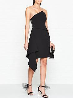 outline-culford-draped-side-panel-dressnbsp--black