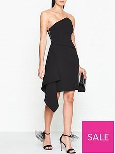 outline-culford-draped-side-panel-dressnbsp--black