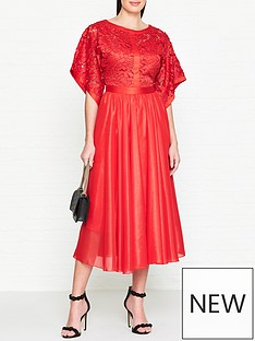 ukulele-kimono-sleevenbspmidi-dress-red