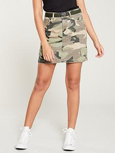 6a5de09f8 V by Very Camo Skirt with Utility Belt - Camouflage