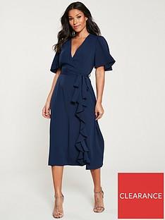 v-by-very-vienna-wrap-frill-midi-dress-navy