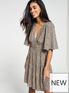 v-by-very-button-waist-tea-dress