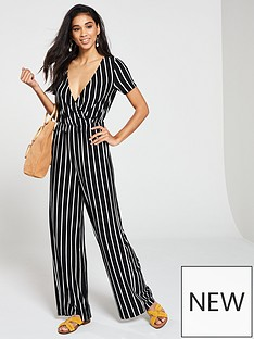 b01a344283b7 V by Very Casual Jumpsuit - Stripe