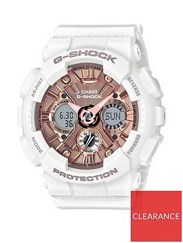 casio-casio-g-shock-rose-gold-chronograph-dial-white-silicone-strap-ladies-watch