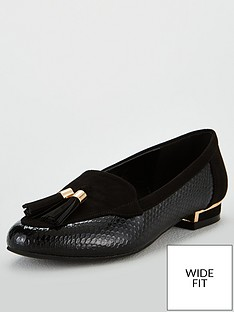 v-by-very-maraba-wide-fit-tassel-loafer-black
