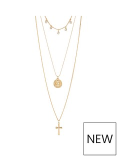 v-by-very-cross-charm-layered-necklace-gold
