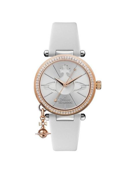 vivienne-westwood-vivienne-westwood-orb-pastelle-silver-and-rose-gold-detail-crystal-set-dial-with-rose-gold-orb-charm-white-leather-strap-ladies-watch