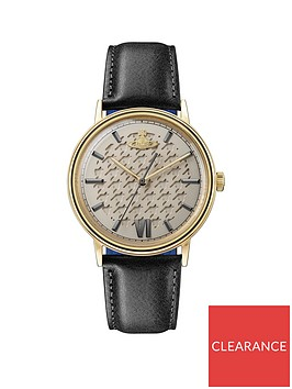vivienne-westwood-turnmill-gold-hound-tooth-and-gunmental-detail-dial-black-leather-strap-mens-watch
