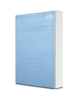 Seagate Seagate 4Tb Backup Plus Slim Portable Hard Drive - Light Blue