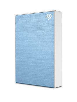 Seagate Seagate 5Tb Backup Plus Slim Portable Hard Drive - Light Blue