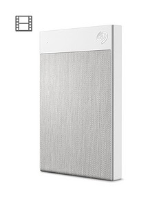 Seagate Seagate 1TB Backup Plus Ultra Touch Portable Hard Drive - White