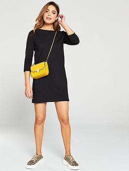 v-by-very-the-essential-three-quarternbspsleeve-jersey-dress-black