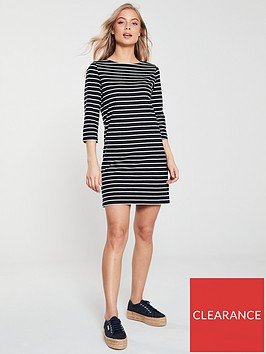 v-by-very-the-essential-three-quarter-sleeve-jersey-dress-stripe