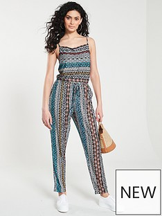 5cbd9503e75 V by Very Drawcord Jumpsuit