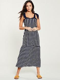 e1ecc08ca21b V by Very Contrasting Stripe Maxi Dress - Blue