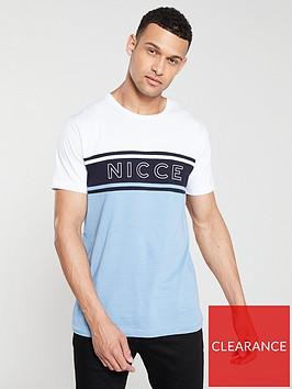 nicce-panel-t-shirt-navyoceanwhite