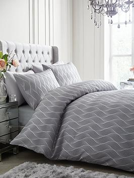 ideal-home-metallic-wave-duvet-cover-set