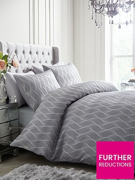 ideal-home-metallic-wave-duvet-cover-set