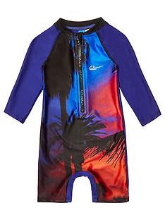 river-island-mini-mini-boys-palm-print-swimsuit-blue