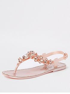 6e0a8c938c22 River Island Girls embellished jelly sandals