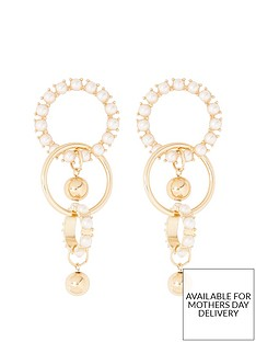 river-island-river-island-pearl-detail-drop-earrings-gold