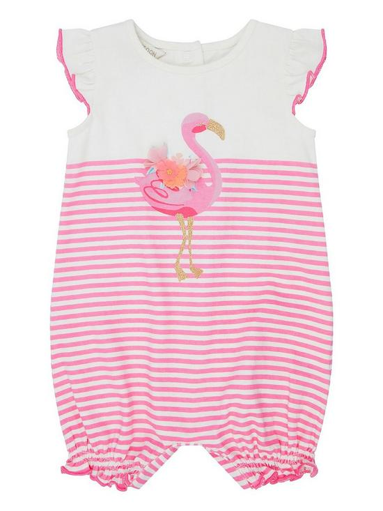 e5493a172 Monsoon Baby Girls Lila Flamingo Romper Suit - Pink