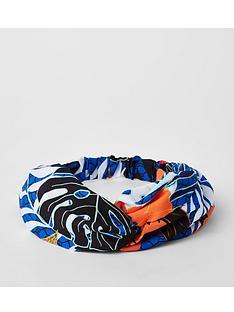river-island-river-island-printed-twist-headband-blue