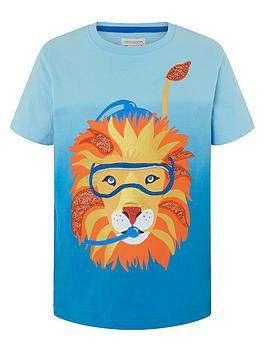 monsoon-boys-oscar-ombre-lion-t-shirt-blue