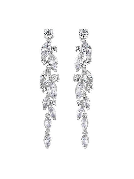da7f259c7 Jon Richard Alan Hannah Devoted Silver Navette Crystal Drop Earrings ...