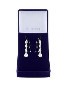 jon-richard-jon-richard-silver-plated-blue-cubic-zirconia-eleanor-pear-drop-earrings