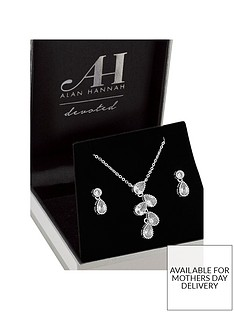 jon-richard-alan-hannah-silver-plated-crystal-teardrop-pendant-and-earrings-set