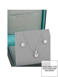 jon-richard-simply-silver-cubic-zirconia-classic-6mm-round-solitaire-pendant-and-earrings-set