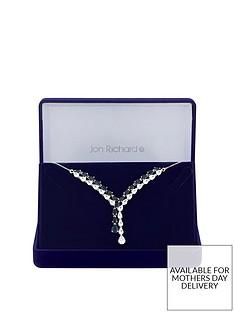jon-richard-jon-richard-silver-plated-blue-cubic-zirconia-eleanor-pear-lariat-necklace