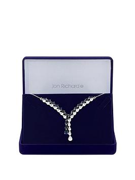 jon-richard-jon-richard-silver-plated-blue-cubic-zirconia-eleanor-pear-lariat-necklace
