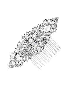 a27045437 Jon Richard Jennifer Jewelled Crystal Hair Comb - Silver