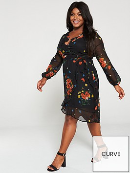 v-by-very-curve-printed-wrap-tea-dress-floral