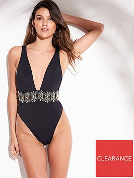 river-island-river-island-embellished-waist-swimsuit-black