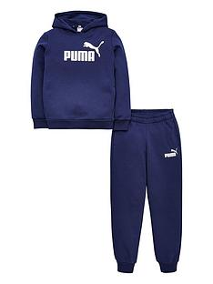 puma-essentials-logo-hooded-sweat-suit-navy