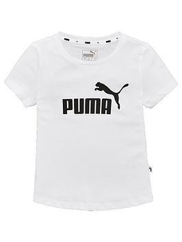 puma-girls-essentials-t-shirt-whiteblack