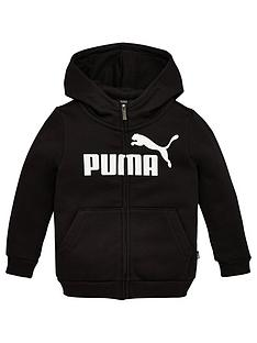 puma-essentials-girls-zip-front-hoodie--nbsp-black