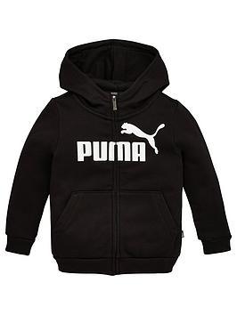 puma-essentials-girls-zip-front-hoodie--nbsp-black