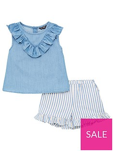 v-by-very-girls-frill-detail-sleeveless-top-amp-stripe-shorts-outfit-blue