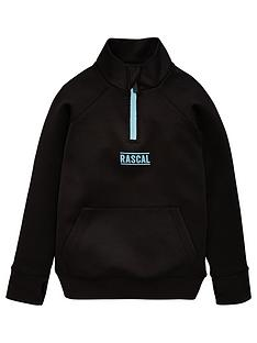 rascal-azul-half-zip-track-top-black
