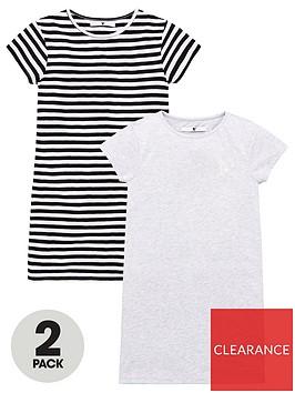 v-by-very-girls-2-packnbspt-shirt-dresses-multi